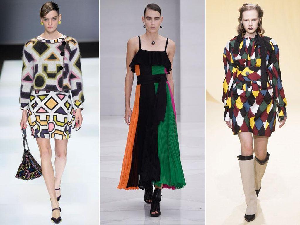 Tren Color-Blocking Semarakkan Milan Fashion Week