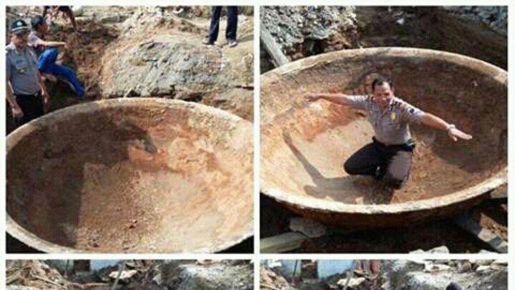 Warga Kutoarjo Purworejo Heboh, Wajan Raksasa Ditemukan di Kedalaman Tanah