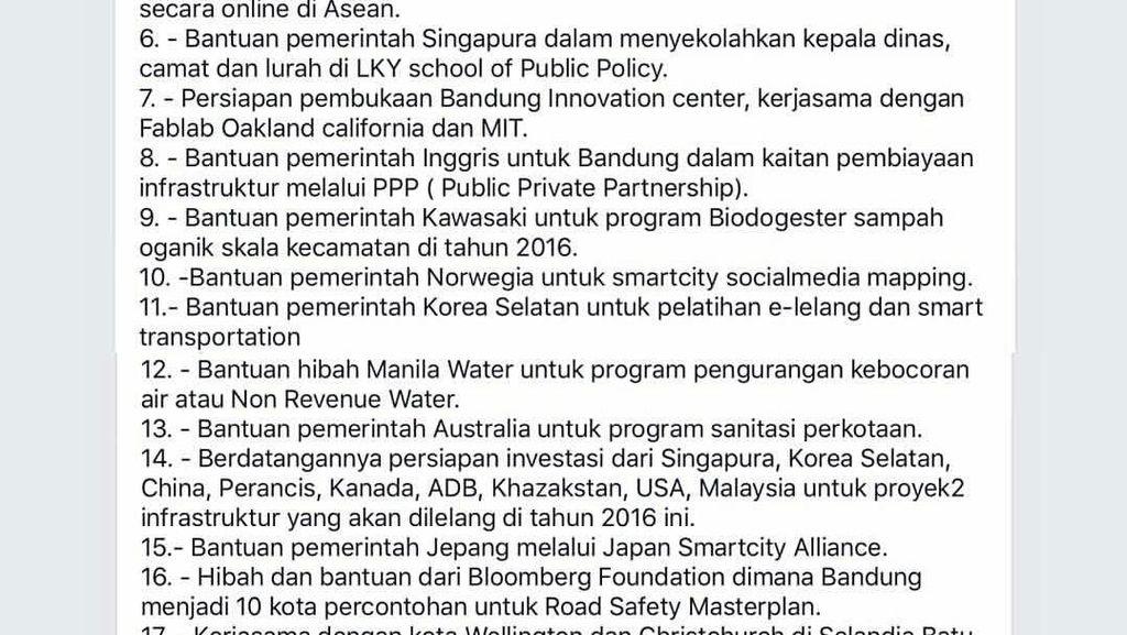Sering ke Luar Negeri, Ridwan Kamil Jabarkan Hasil Kerjasama di Instagram