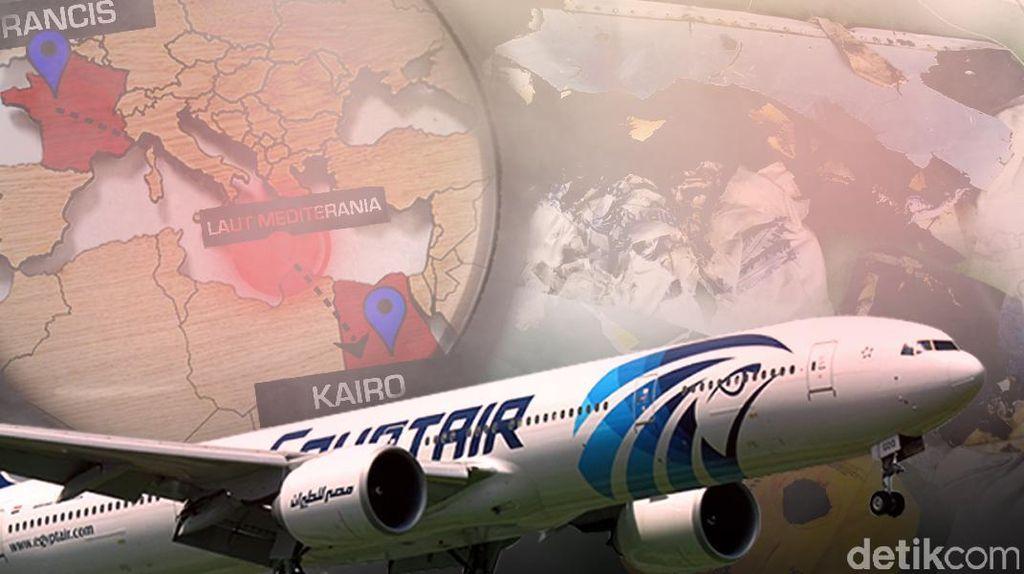 Tiba di Laut Mediterania, Kapal Milik Prancis Mulai Cari Kotak Hitam EgyptAir