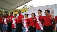 Sebanyak 200 pelajar juga dilantik sebagai duta HIV-AIDS untuk mengampanyekan pencegahan HIV di rumah dan di sekolah. (Foto: Reza/detikHealth)