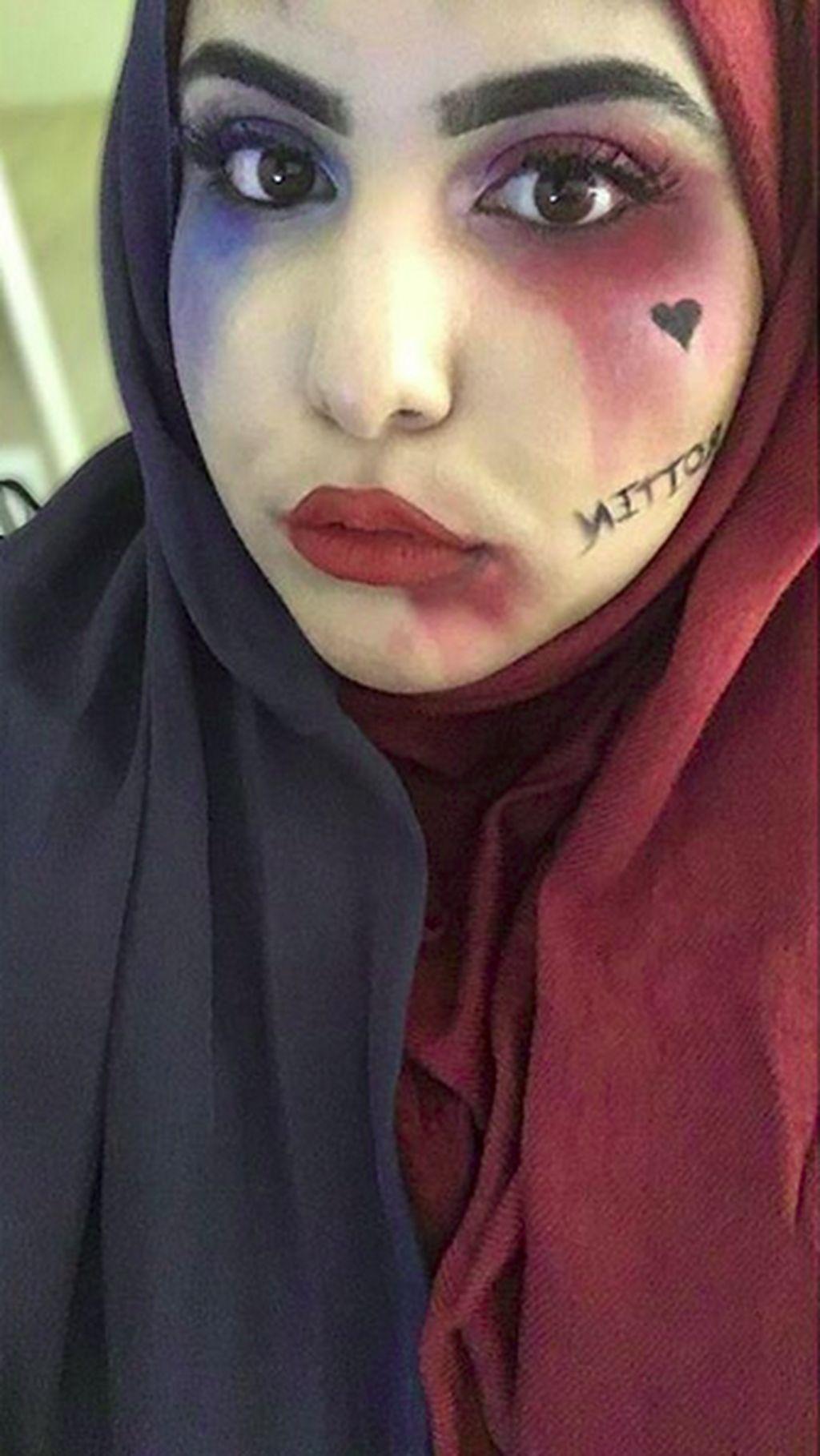Bukan Harley Quinn, Hijabers dengan Makeup Halal-ey Quinn Jadi Viral
