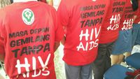 Kampanye juga dilakukan untuk menghilangkan stigma negatif pelajar pada pasien HIV positif. (Foto: Reza/detikHealth)