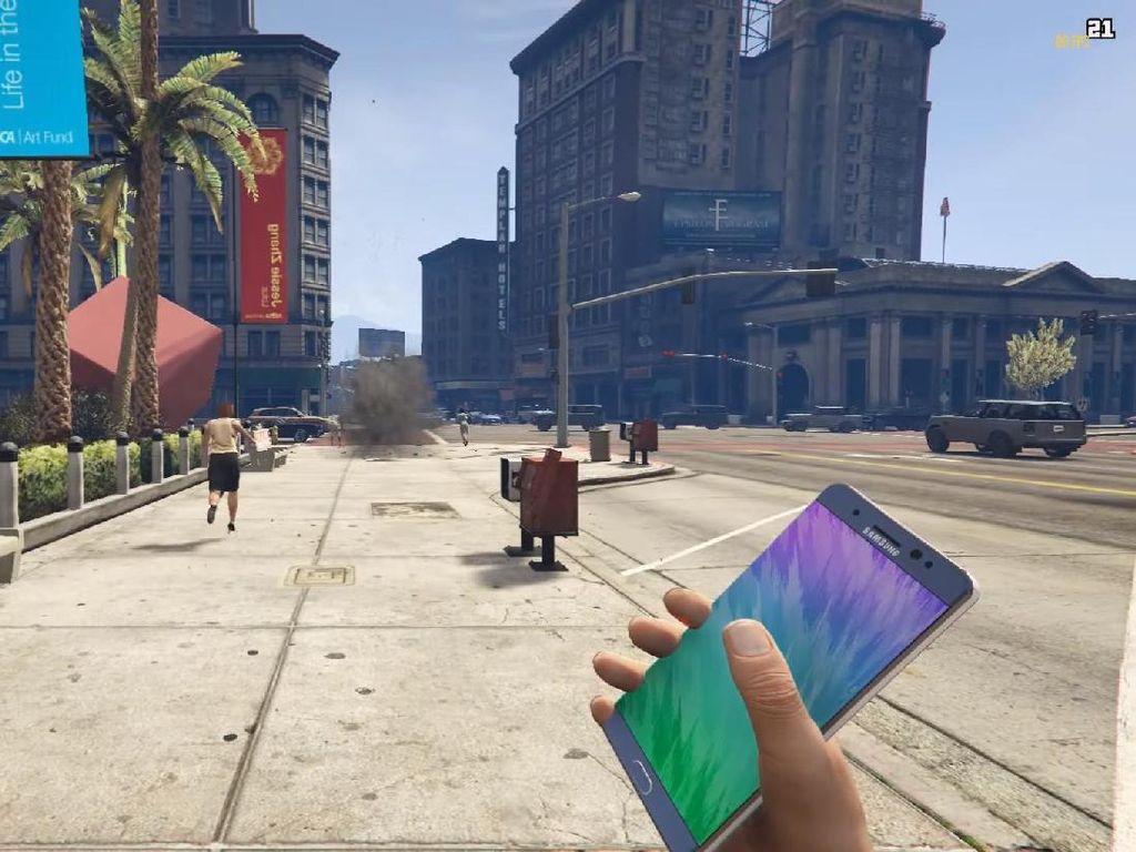 Samsung Gusar Note 7 Jadi Bahan Candaan di GTA V
