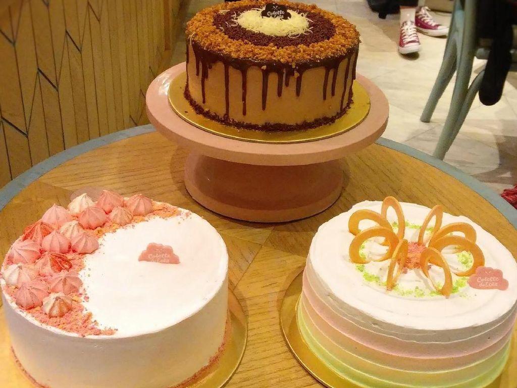 Nyam! Es Teler Kini Dihadirkan Dalam Bentuk Cake Berwarna Cantik