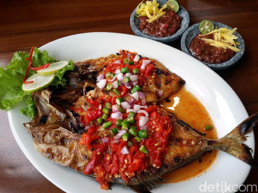 Gurih Enak Ikan Aji-aji Bakar Rica dan Bandeng Pallumara dari Restoran Legendaris