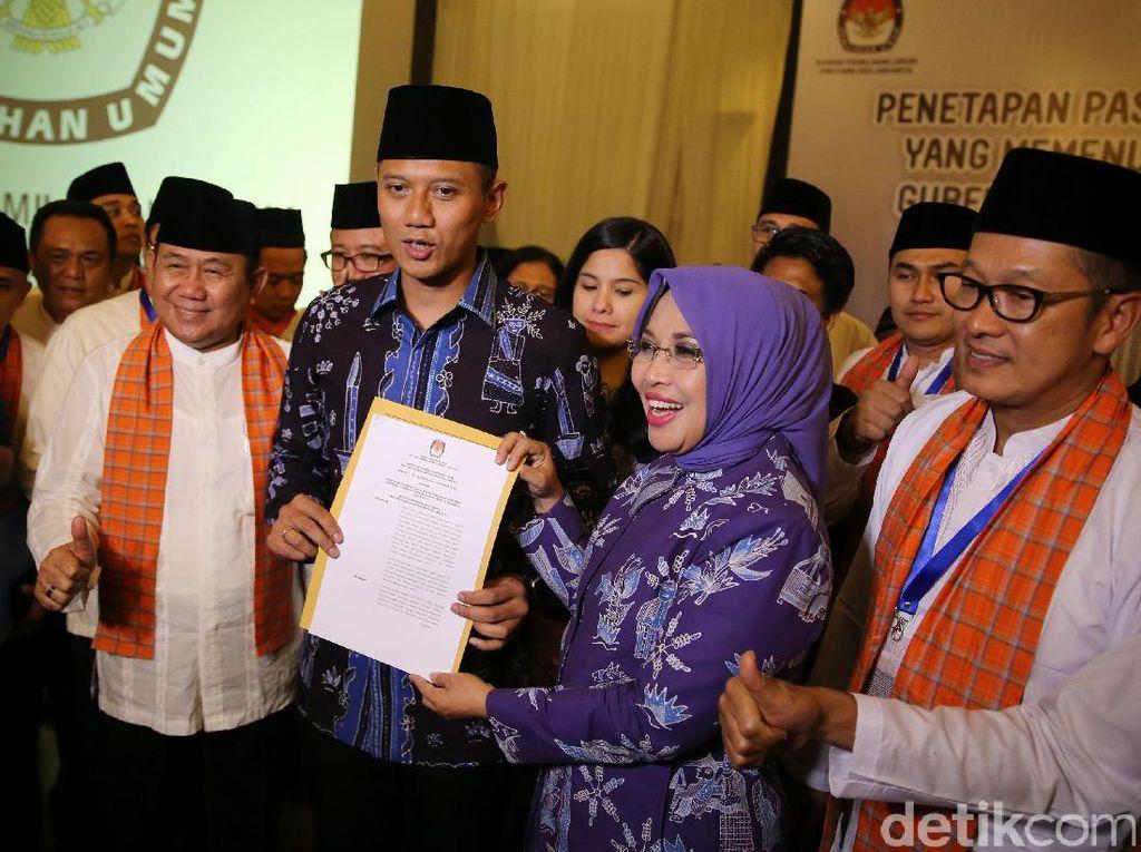 KPU DKI Tetapkan Pasangan Cagub/Cawagub