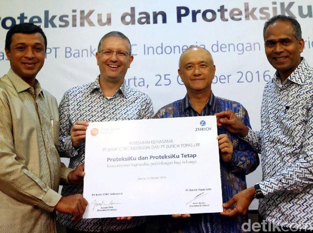 Zurich Topas Life Gandeng Bank CTBC Indonesia