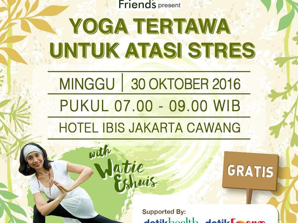 4 Hari Lagi! Ayo Ikutan Yoga Tertawa untuk Usir Stres