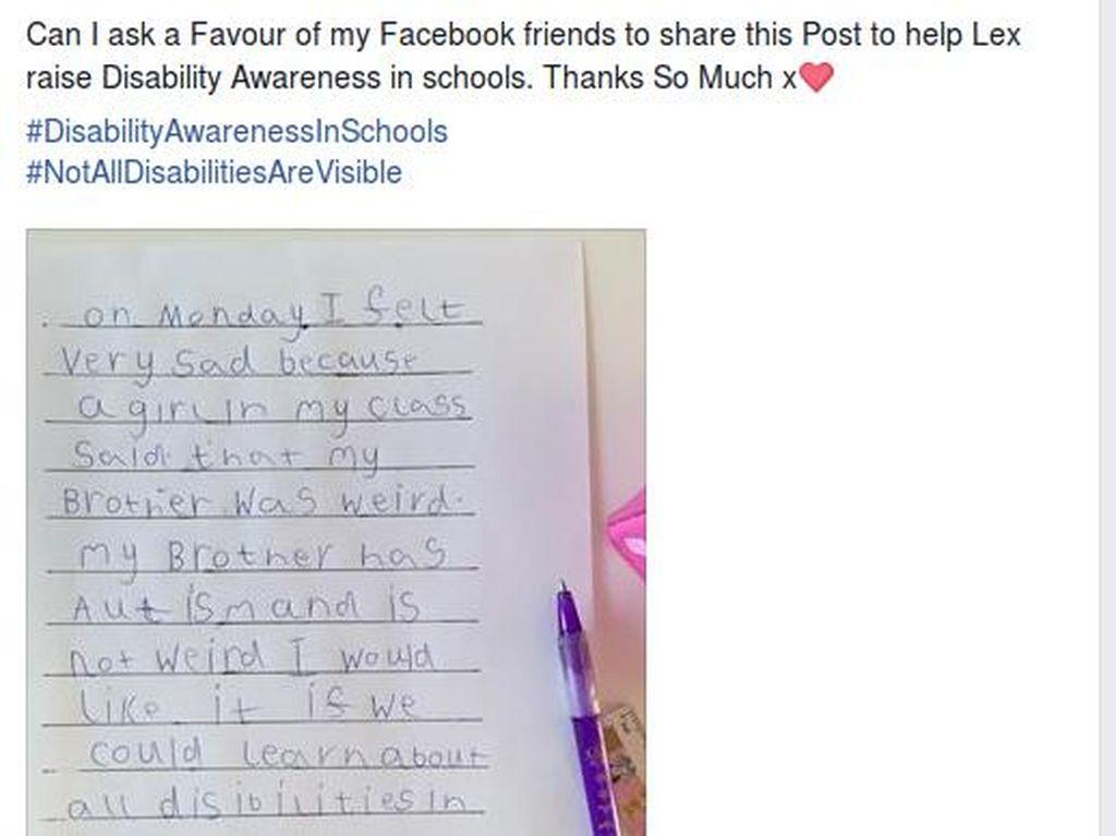 Curahan Hati Bocah 6 Tahun Soal Kakaknya yang Idap Autisme Ini Jadi Viral