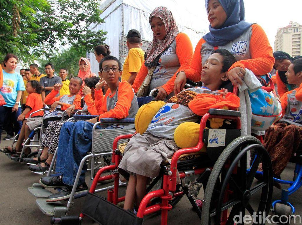 Penyandang Disabilitas Nikmati Akhir Pekan