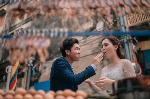Ini Cara Unik Pasangan Foodies Membuat Foto Prewedding