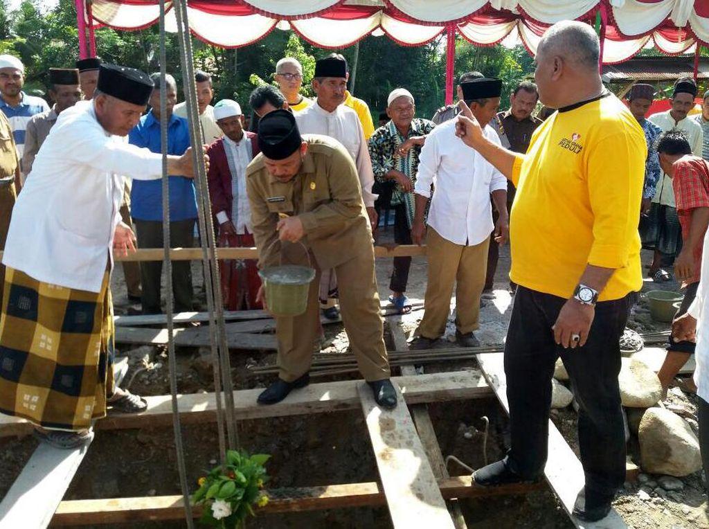Masjid yang Rusak Akibat Gempa Aceh Mulai Dibangun