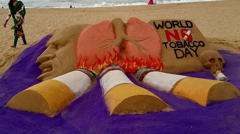 Meriahnya Parade Hari Tanpa Tembakau Sedunia di India