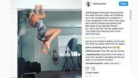 Video yang diunggah Charity jadi viral di instagram. Tampak anaknya ikut menonton sang ibu bergelantungan di atap ruangan. (Foto: IG @charity.grace)