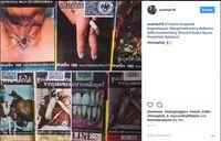 Di Thailand lebih seram lagi. Peringatan bergambar tenggorokan yang bolong, gigi yang rusak, hingga ilustrasi impotensi. (Foto: instagram/scarhart16)