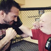 Tidak tanggung-tanggung seorang petarung veteran MMA Nate Quarry menjawab tantangan Jacob. (Foto: Facebook/Jacob Beckmann)