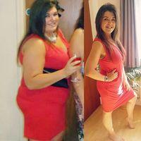 Foto kiri diambil pada tanggal 1 Agustus 2014 dan foto kanan pada 1 Agustus 2017. Dalam waktu tiga tahun ia berhasil menurunkan berat badannya dengan cara yang alami. (Foto: Instagram/healthyfit_chloe)